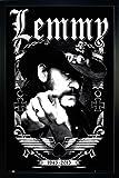 Close Up Motörhead Poster Lemmy 1945-2015 (66x96,5 cm) gerahmt in: Rahmen schwarz
