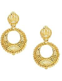 Shining Jewel Traditional Gold 24K Chandbali Earrings (SJ_916)