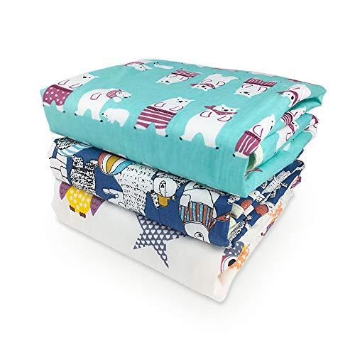 Xiluck Tragbare Wickelauflage,Wasserdichte Wickelunterlage Baby,Weiche Baby Wasserdichte Wickelunterlage Liner Matratze Waschbare Windelunterlage Erwachsene Inkontinenzunterlage(3er-Pack)