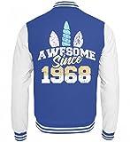Kleidungskulisse Hochwertige College Sweatjacke - Awesome Since 1968 Einhorn Lustige Geburtstagssprüche Geburtstagsgeschenke 60s Einhörnchen