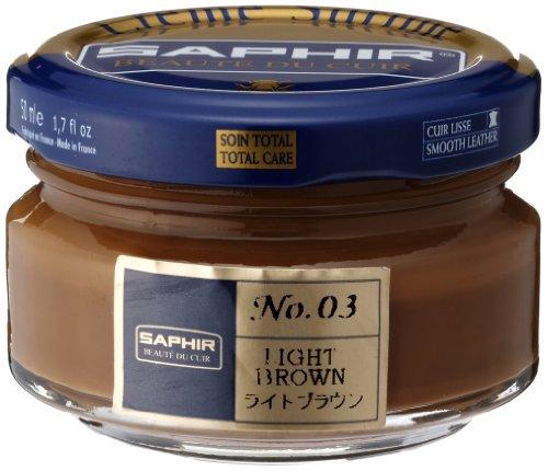 Saphir Crema Surfine Lucido da scarpe 50 ml - (03) MARRONE CHIARO, 50 ml