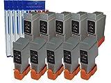 10 Tintenpatrone kompatibel fuer BCI-21 BCI-24 Multipack (5 Black 5 Tri-Colour) fuer Canon BJC-2000SP 2100 2100SP 4000 4100 4200 4200SP 4300 4310SP 4400 4550 4650 5000 5100 5500 5500T S100 S100SP S200 S200x S200SP S200SPx S300 S330 Photo MultiPass C70 C75 C80 FAX B180C B210C B215C B230C PIXMA iP1000 iP1500 iP2000 MP110 MP130