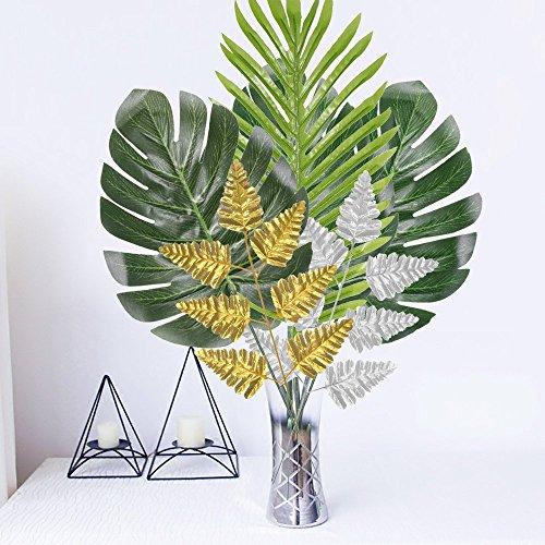 cal Party Dekoration Party Palm Leaf Set für Garten Beach Summer Tiki Party Büro Hochzeit Wand Decor, 25 Packungen ()