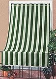 Tenda da sole tessuto resistente per esterno con anelli lavabile frange pizzo - Verde