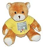 Unbekannt Teddy Bär zum Schulanfang - für Jungen und Mädchen - Schulanfangsbär Glücksbringer Plüsch alle Gute Plüschtier Zuckertüten Deko  Alles Gute zum Schulanfang