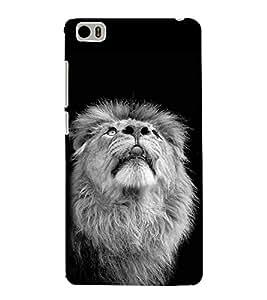 Fiobs Designer Back Case Cover for Xiaomi Mi 5 :: Redmi Mi5 (Lion Face Orange yellow wild )