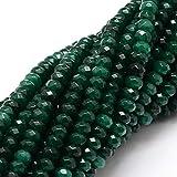 Perlin Piedras Preciosas Perlas ágata Piedra 4 mm Abeto Verde 30 Unidades facetado...