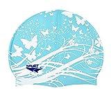 Dorapocket Silikon-Badekappe Erwachsene Kinder Haarpflege Professionell Wasserdicht, Kinder, blau
