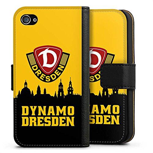 Apple iPhone 7 Hülle Premium Case Cover SG Dynamo Dresden Fanartikel Bundesliga Sideflip Tasche schwarz