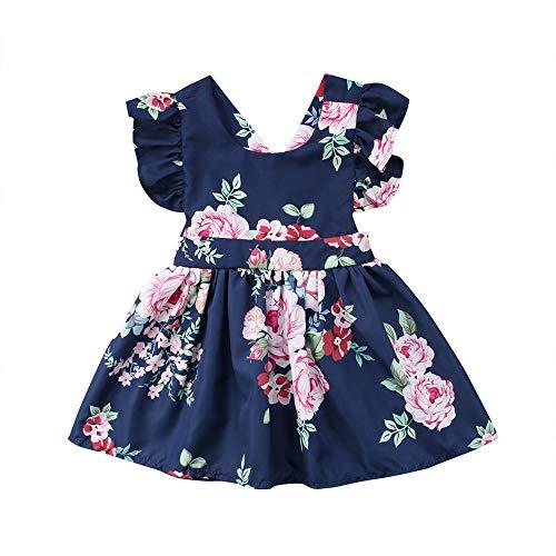 Wang-RX Moda para niños pequeños para bebés, niñas, niñas, Ropa, sin Espalda, Fiesta, Desfile, Vestido de tutú, Vestido de Fiesta, Ropa de niños