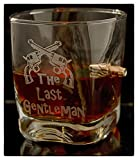 Graviertes WhiskeyGlas mit realem Geschoß und Gravur The Last Gentleman Geschenkidee