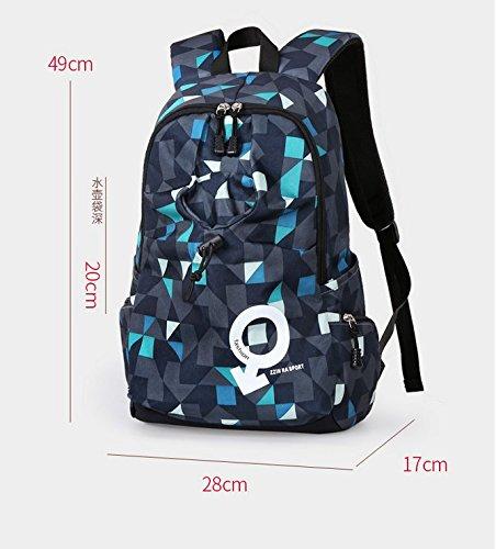 d138c618ce0af Otomoll Mode Sport Rucksack Tasche Wasserdichte Rucksack Koreanische  Studenten Camouflage blue (common paragraph)