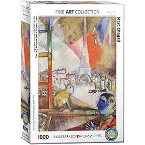 "Eurographics ""Marc Chagall París través de la Ventana Puzzle (1000 Piezas"