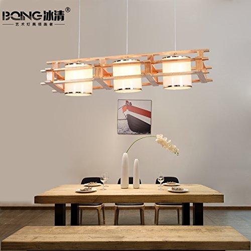 sische Art Leuchten Melden Esszimmer Leuchten Drei Kreative Led Beleuchtung Restaurant Hölzernen Leuchter (Küche Melden)