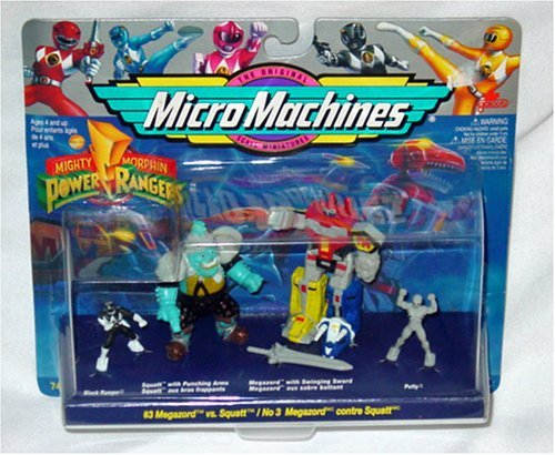 MICRO MACHINES Galoob Power Rangers MEGAZORD vs SQUATT with PUTTY by Micro Machines - Power Machines