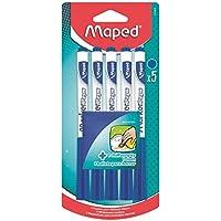 Maped - 5 Feutres effaçables à Sec Marker'Peps + 1 Chiffonnette - Feutres pour Ardoise et Tableau Blanc - Marqueurs non…