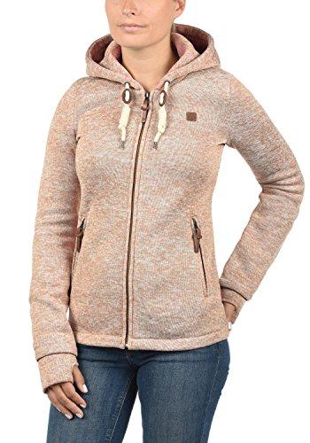 DESIRES Thory Damen Fleecejacke Sweatjacke Jacke Mit Kapuze Und Daumenlöcher, Größe:M, Farbe:Ma. Rose M (4203M) - 2
