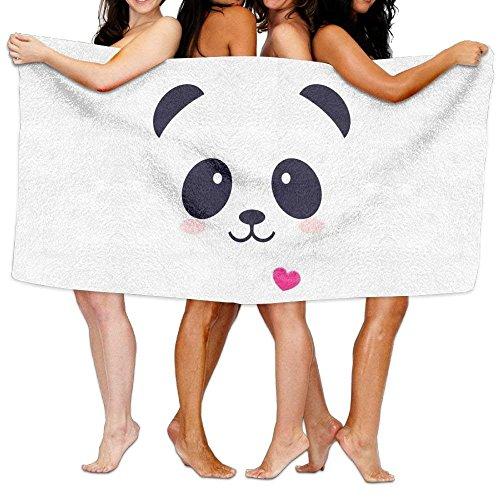 Fedso Toalla de baño de Microfibra Ultra Absorbente de Cartoon Panda para...