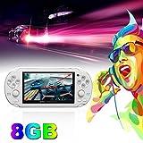 4.3inch écran console de jeu 8GB mémoire jeux gratuits MP5 Game Player avec caméra (couleur: blanc)
