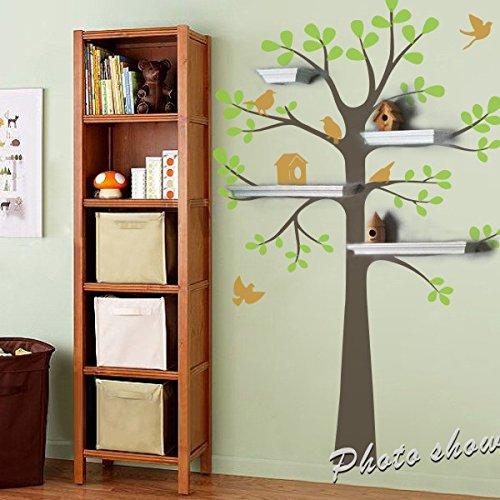 Adesivo da parete Baby Nursery Decor vinile arte decorazione spazio adesivo da parete-adesivi porta albero con uccelli-Baby originale, vinilico, D, 94