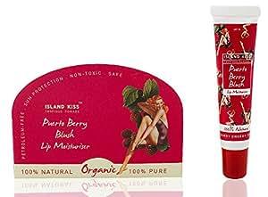 Island Kiss, 100% Natural, Organic Lip Balm, Moisturiser & Stain With Spf 15, Peurto Berry Blush, 14Gms