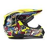GTYW Casco Fuoristrada Endurance Racing Casco Scooter Casco Cruiser Casco Integrale Casco Downhill Downhill Bicicletta Città Scooter ECE Certificato,Yellow-M=56-57CM