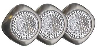 Tibelec 343430 Mini Hublots LED à Piles Métal Lot de 3
