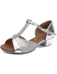 HIPPOSEUS Girls' Latin Dance Shoes Ballroom Shoes,Model UK305