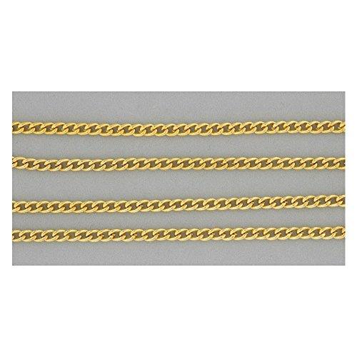 Panzerkette - Gliederkette Panzer vergoldet, Meterware, Halskette zum Schmuck basteln, 1m