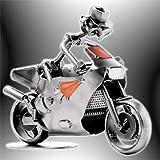 Boystoys HK Design - Motorradfahrer Schraubenmännchen Rennmotorrad & Superbike Racing - Metall Art Geschenkideen Deko Skulptur Biker & Motorräder - hochwertige Original Figuren handgefertigt