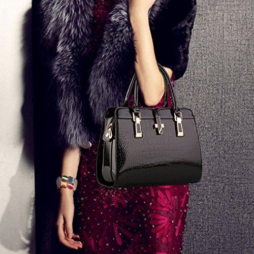 Borsa della borsa del hobo del cuoio del Faux della borsa della borsa della borsa della borsa delle donne Vino rosso
