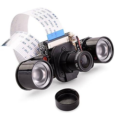 For Raspberry Pi Kamera, Quimat Webcam Video1080p 3MP OV5647 Sensor Mini Camera Module Kit unterstützt Nachtsicht mit IR-CUT in Tag und Nacht für Raspberry Pi 3 2 1 B B+ A (3 Modul Kit)