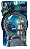 The Golden Compass 3 Inch Action Figure - Lyra Belacqua With Pantalaimon Ermine And Wildcat Daemon Forms