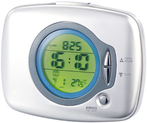 infactory Vibrationswecker: LCD-Wecker mit Vibrations-Alarm (Seniorenwecker)