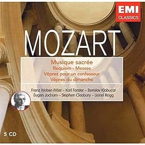 Mozart : Musique Sacrée (Coffret 5 CD)