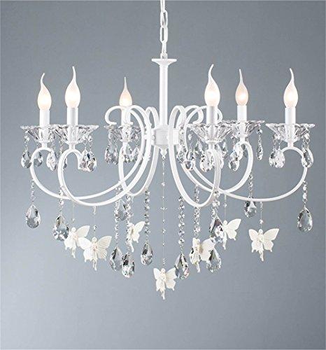 Nordico moderno, come la lampada da soffitto lampadario fashion giardino sala sala da pranzo camera da letto camera studio scala di cristallo lampadario tessuto con 3 led 6 led 8 led (bianco) (dimensioni: 74*35 cm).