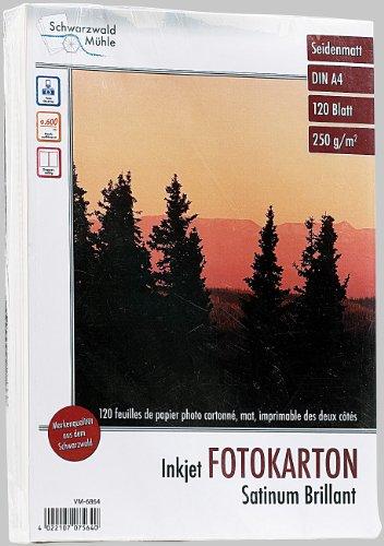 Schwarzwald Mühle Fotopapier: 120 Blatt Foto-Karton, matt, beidseitig, A4 (Beschichtetes Fotopapier) (Bedruckbare Karton)
