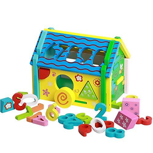 YMUUIHC Frühe Bildung Spaß Lernspielzeug, Holz Intelligenz Box, Kinder Intelligenz Box, Farbe Form Kognitiven Matching, Kinderspielzeug 3, 4, 5, 6 Jahre Alt.