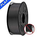 3D Printer Filament, PLA plus Filament 1.75mm, 3D Printer Filament PLA+, 1KG Black