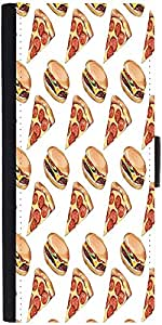 Snoogg Fast Food Patterndesigner Protective Flip Case Cover For Apple Iphone 6