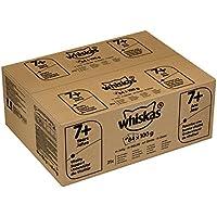Whiskas Katzen-/Nassfutter Multipack Senior 7+ für ältere Katzen Fisch und Geflügelauswahl in Gelee, 84 Portionsbeutel (84 x 100 g)