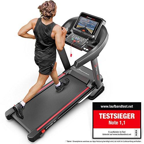 Sportstech F37 Profi Laufband, Selbstschmiersystem, Smartphone Fitness App, klappbar kompakt verstaubar