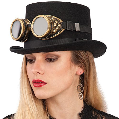 Sombreros steampunk Carnival Toys - con Gafas