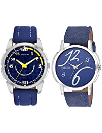 Tarido Blue Dial Analog Wrist Combo Watch For Men
