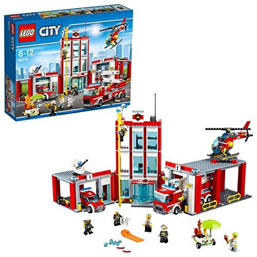 feuerwehrwache lego LEGO City 60110 - Große Feuerwehrstation, Kinderspielzeug, Bauspielzeug