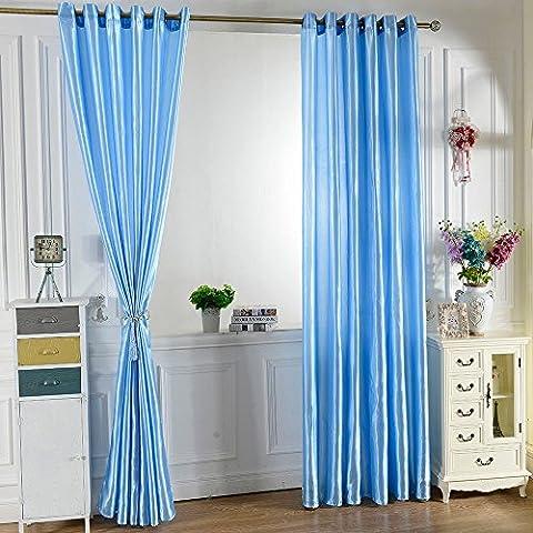 snowp 2pcs 100* 250cm ojal apagón cortina Panel de Revestimiento sólido brillante Color ventana cortinas