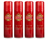 4X IMPERIAL LEATHER ORIGINAL MENS ANTI-PERSPIRANT DEODORANT SPRAY 150ML