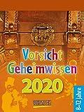 Vorsicht Geheimwissen 2020: Tages-Abreisskalender für Kinder voller Wissen, Ideen und Spiele I Aufstellbar I 12 x 16 cm -