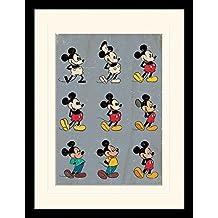 Mickey Mouse - Evolution Póster De Colección Enmarcado (40 x 30cm)