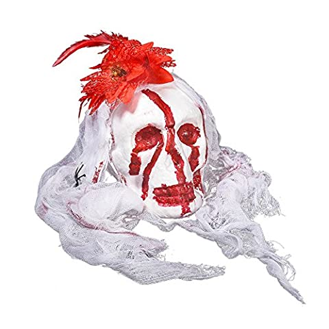 FriendG Horror Cute Halloween Ghost Ornament Scary Spooky Festival Party Hanging Toys (White)